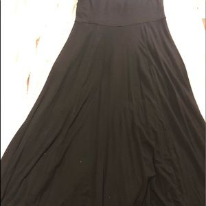 Gap XL black maxi skirt
